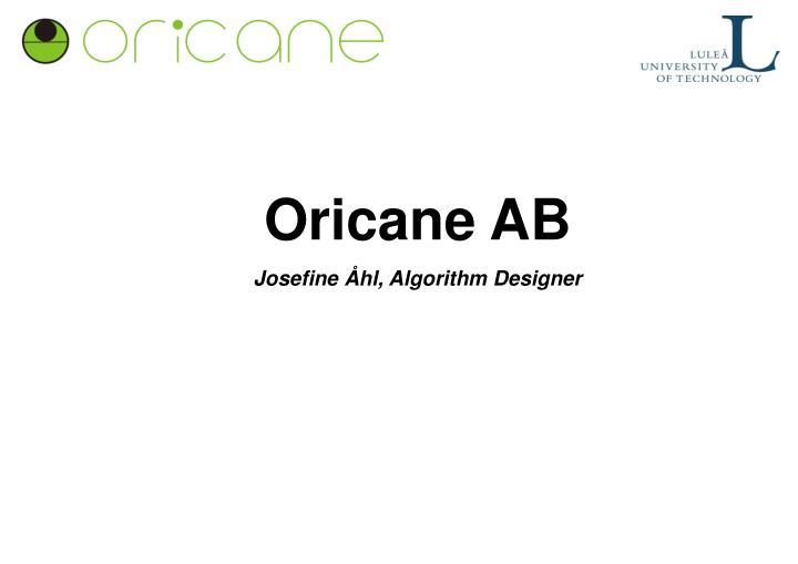 Oricane AB