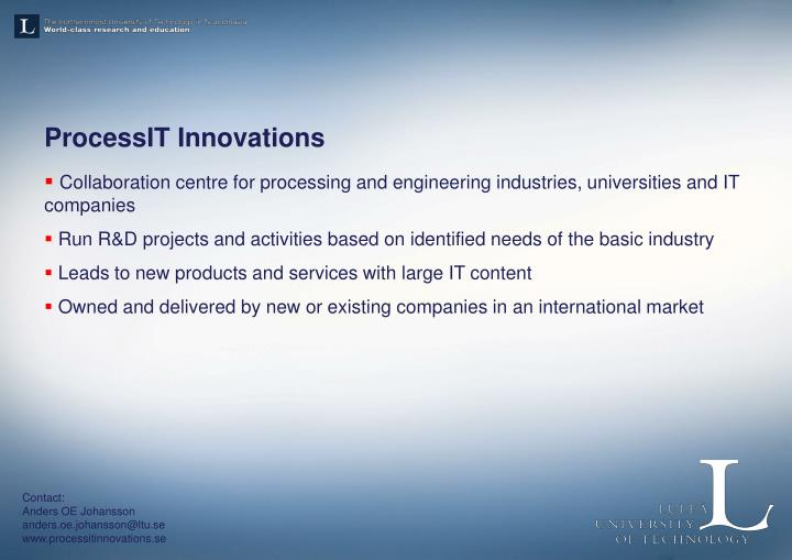ProcessIT Innovations