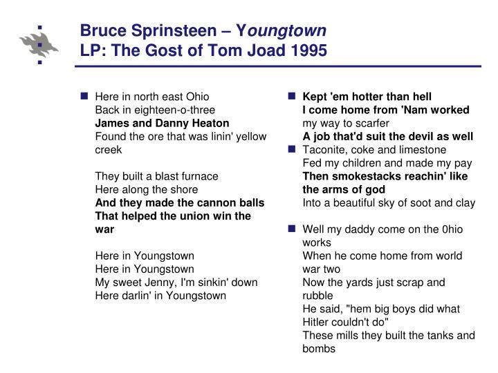 Bruce Sprinsteen – Y