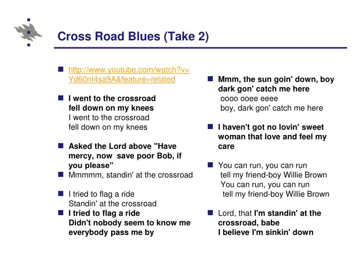 Cross Road Blues (Take 2)