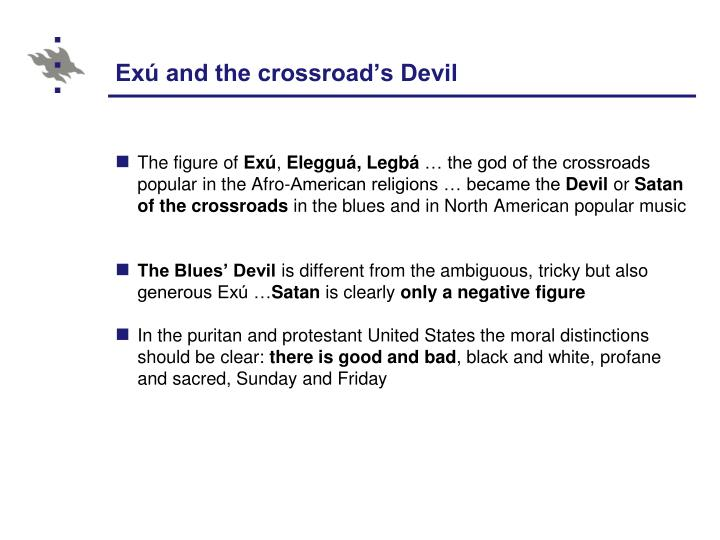 Exú and the crossroad's Devil