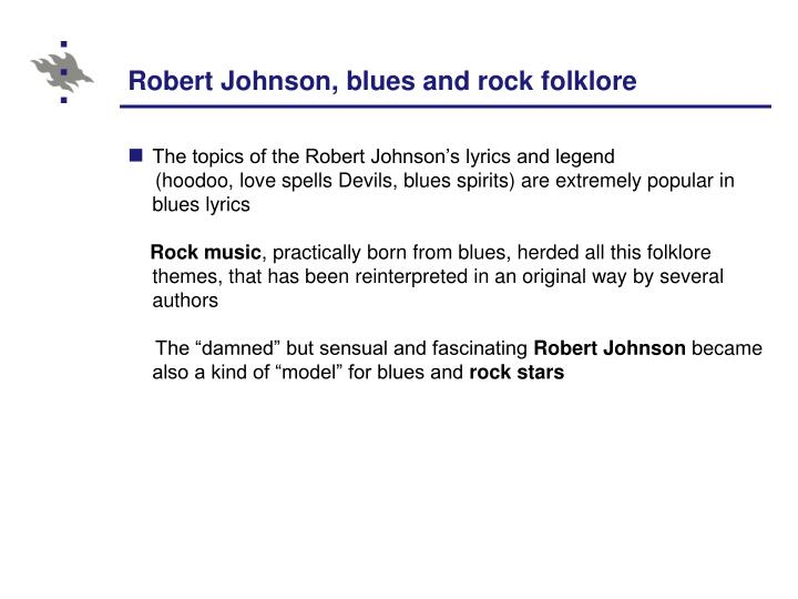 Robert Johnson, blues and rock folklore