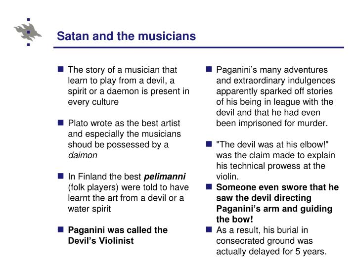 Satan and the musicians