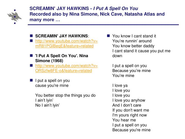 SCREAMIN' JAY HAWKINS -