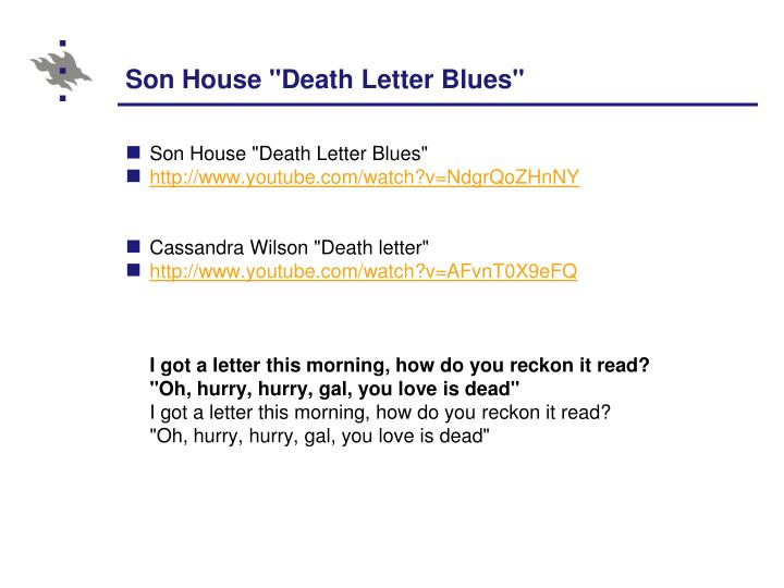 "Son House ""Death Letter Blues"""