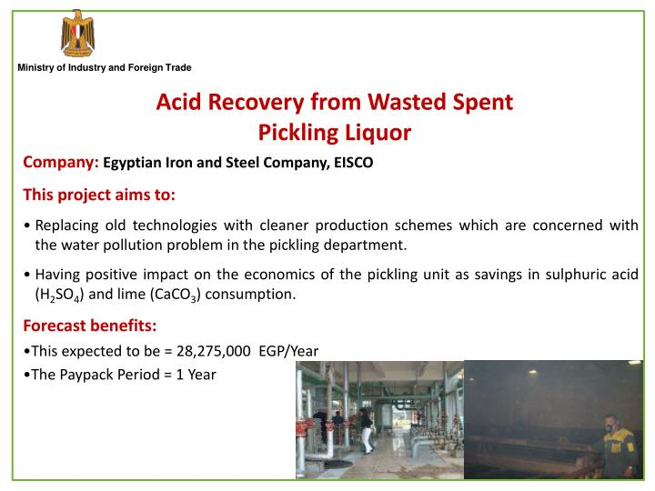 Acid Recovery from Wasted Spent