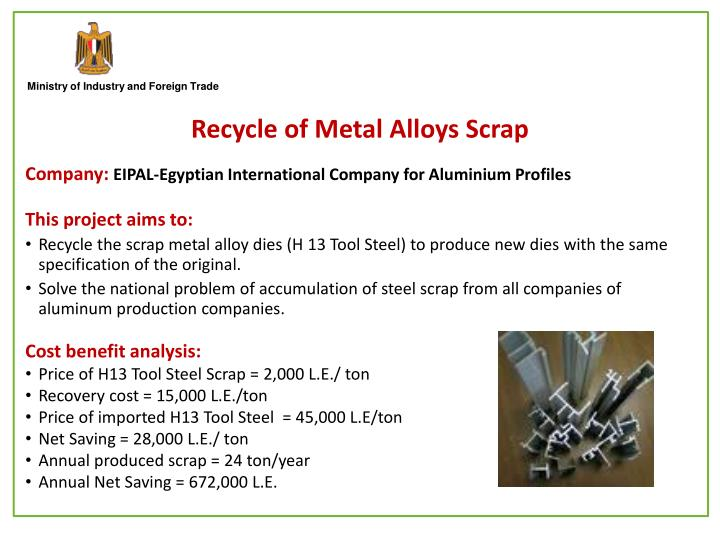 Recycle of Metal Alloys Scrap