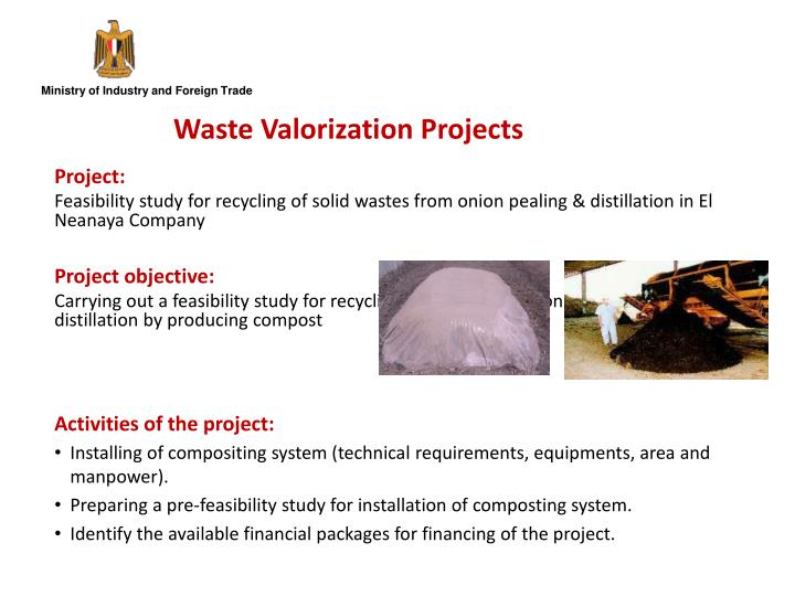 Waste Valorization Projects