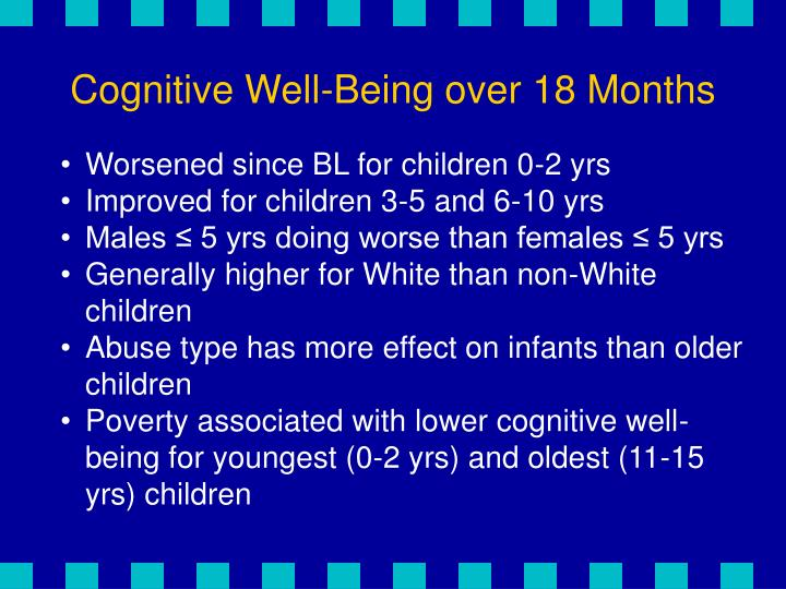 Cognitive Well-Being over 18 Months