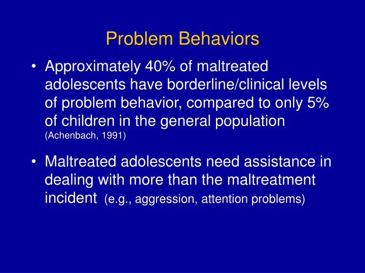 Problem Behaviors