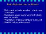 risky behavior over 18 months