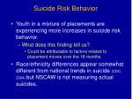 suicide risk behavior
