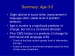 summary age 3 5