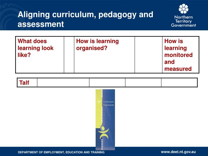 Aligning curriculum pedagogy and assessment