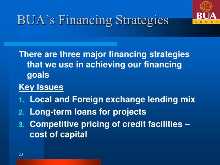 BUA's Financing Strategies