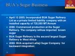 bua s sugar business