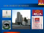 our cement business