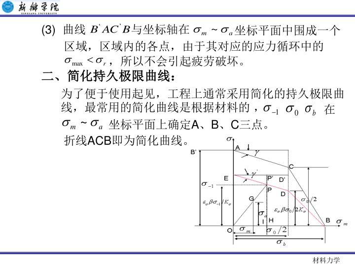 (3)  曲线