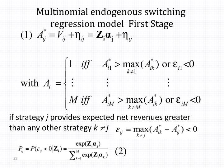 Multinomial endogenous switching