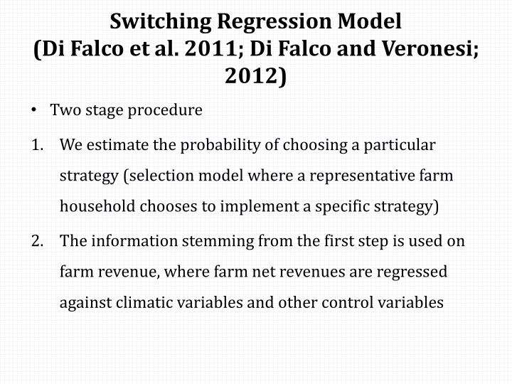 Switching Regression Model