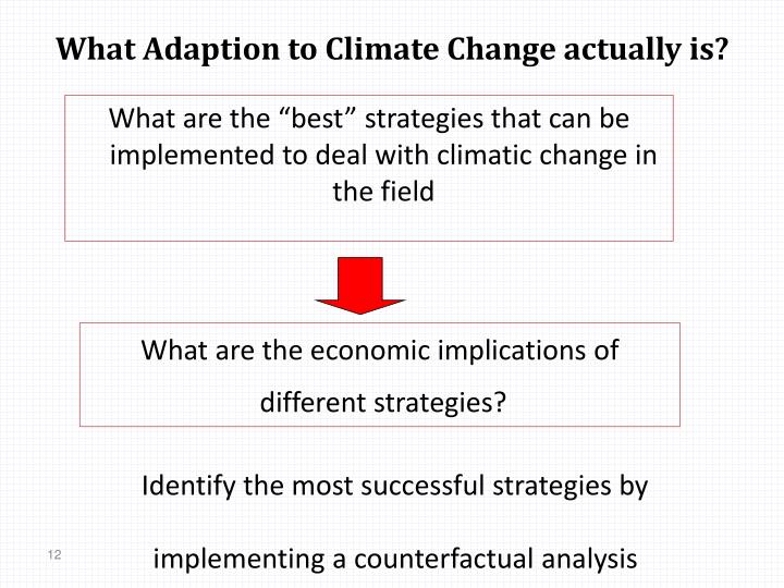 What Adaption to Climate Change actually is?