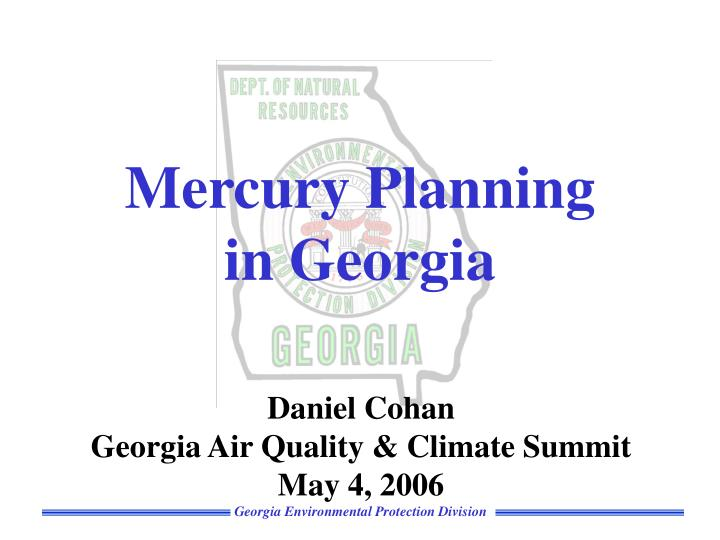 mercury planning in georgia