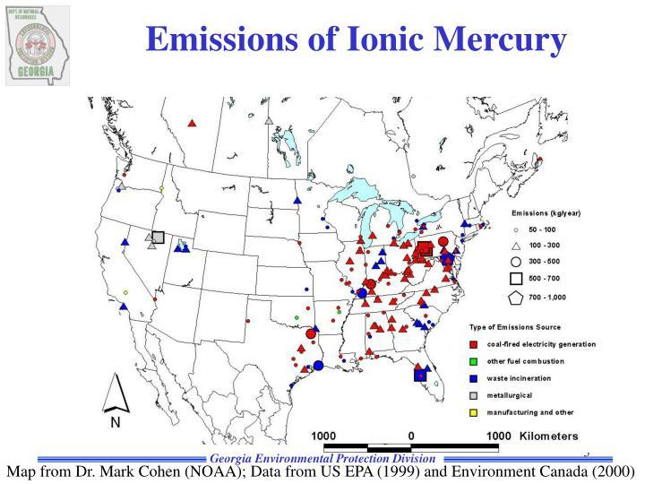 Emissions of Ionic Mercury