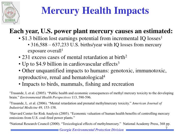 Mercury Health Impacts