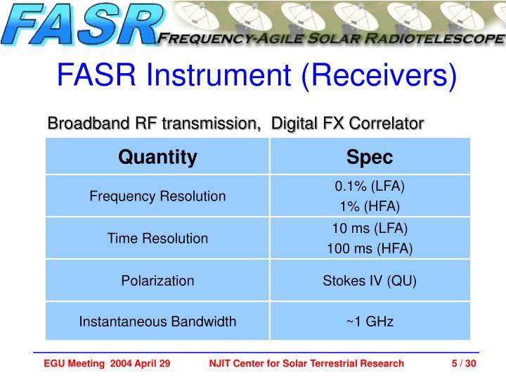 FASR Instrument (Receivers)