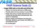 fasr science goals 2