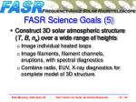 fasr science goals 5