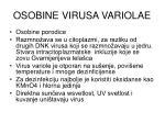 osobine virusa variolae