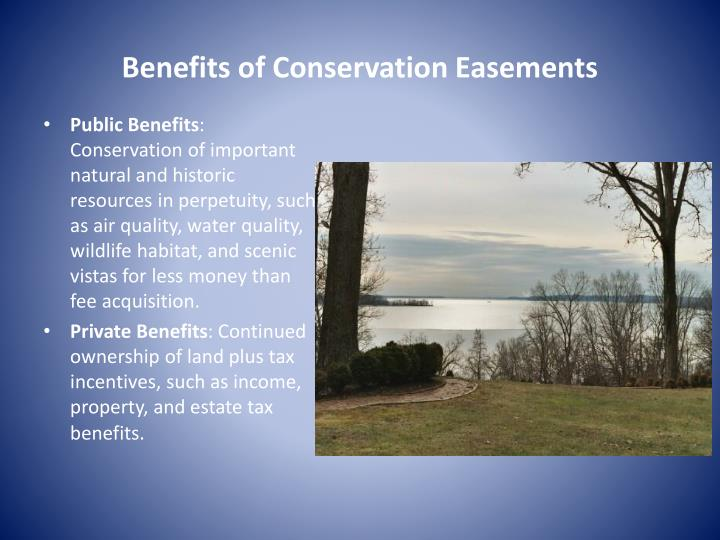 Benefits of Conservation Easements