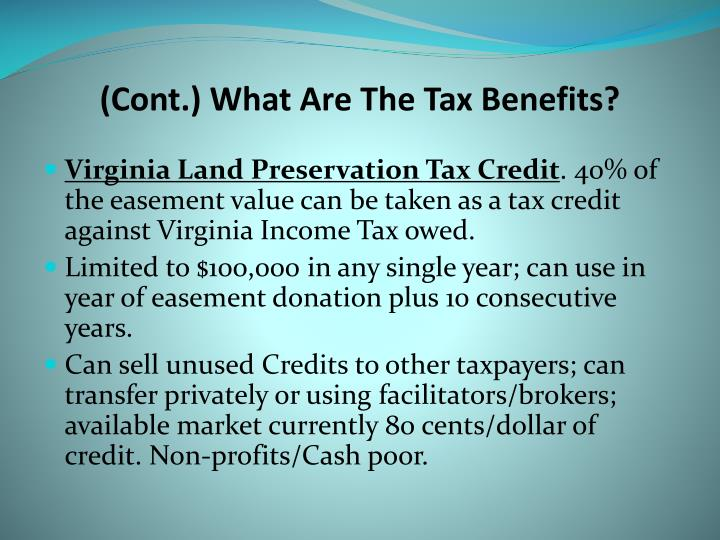 (Cont.) What Are The Tax Benefits?