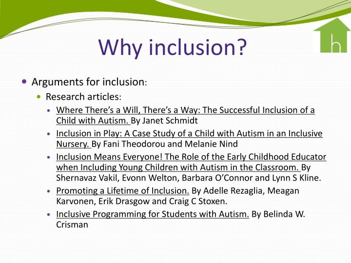 Why inclusion?