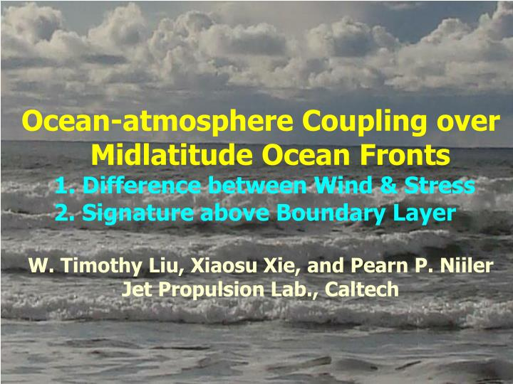 Ocean-atmosphere Coupling over Midlatitude Ocean Fronts