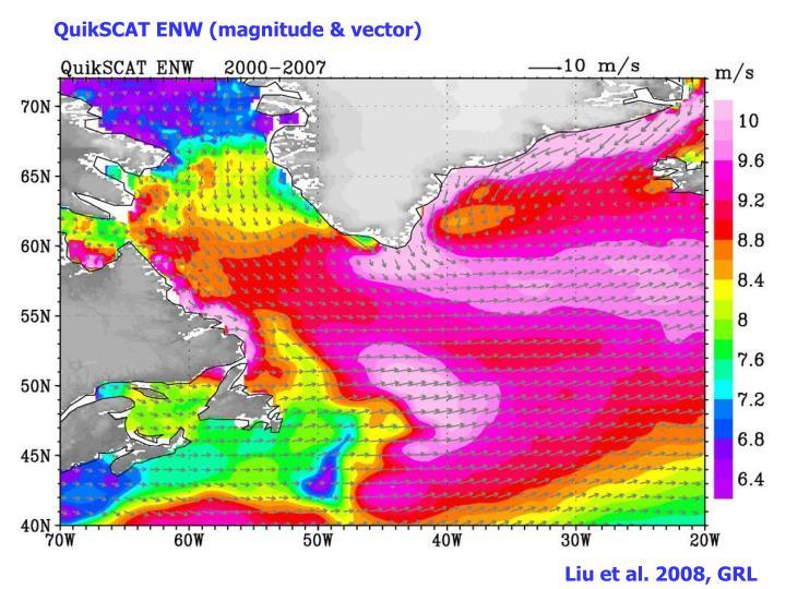 QuikSCAT ENW (magnitude & vector)