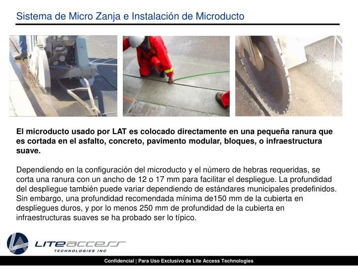 Sistema de Micro Zanja e Instalación de Microducto