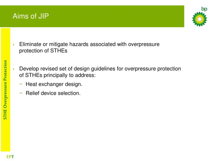 Aims of JIP