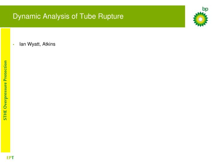 Dynamic Analysis of Tube Rupture
