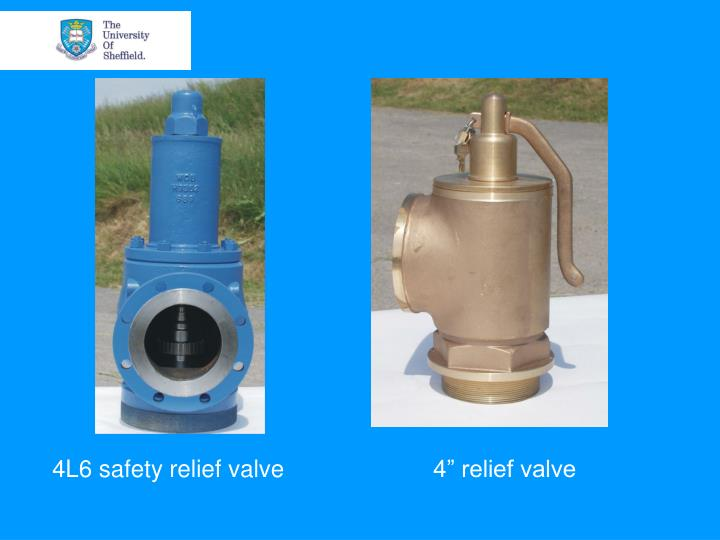 4L6 safety relief valve