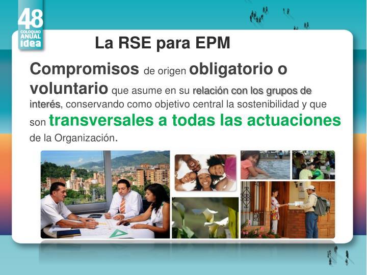 La RSE para EPM