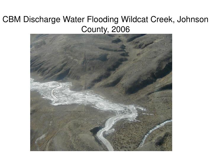 CBM Discharge Water Flooding Wildcat Creek, Johnson County, 2006