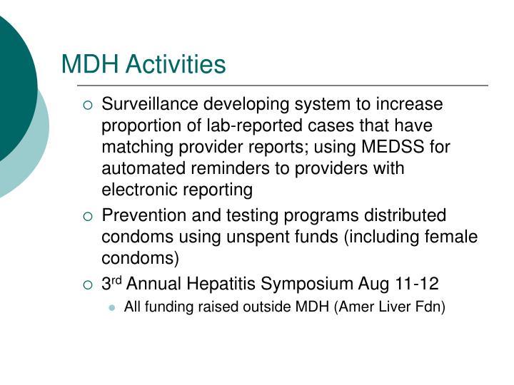 MDH Activities