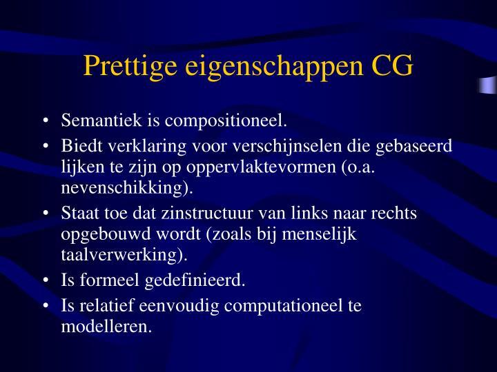Prettige eigenschappen CG