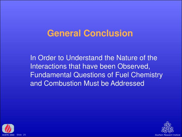 General Conclusion