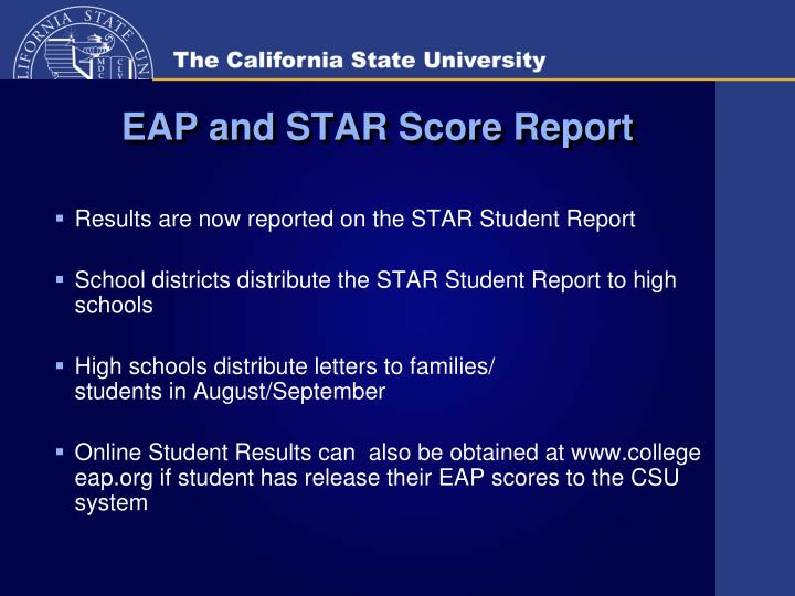 EAP and STAR Score Report