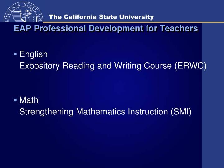 EAP Professional Development for Teachers