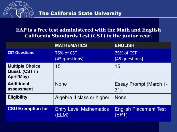 EAP Test Overview