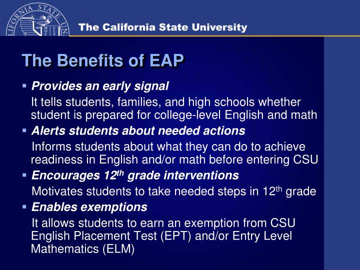 The Benefits of EAP